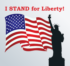 I Stand For Liberty! Window Decal